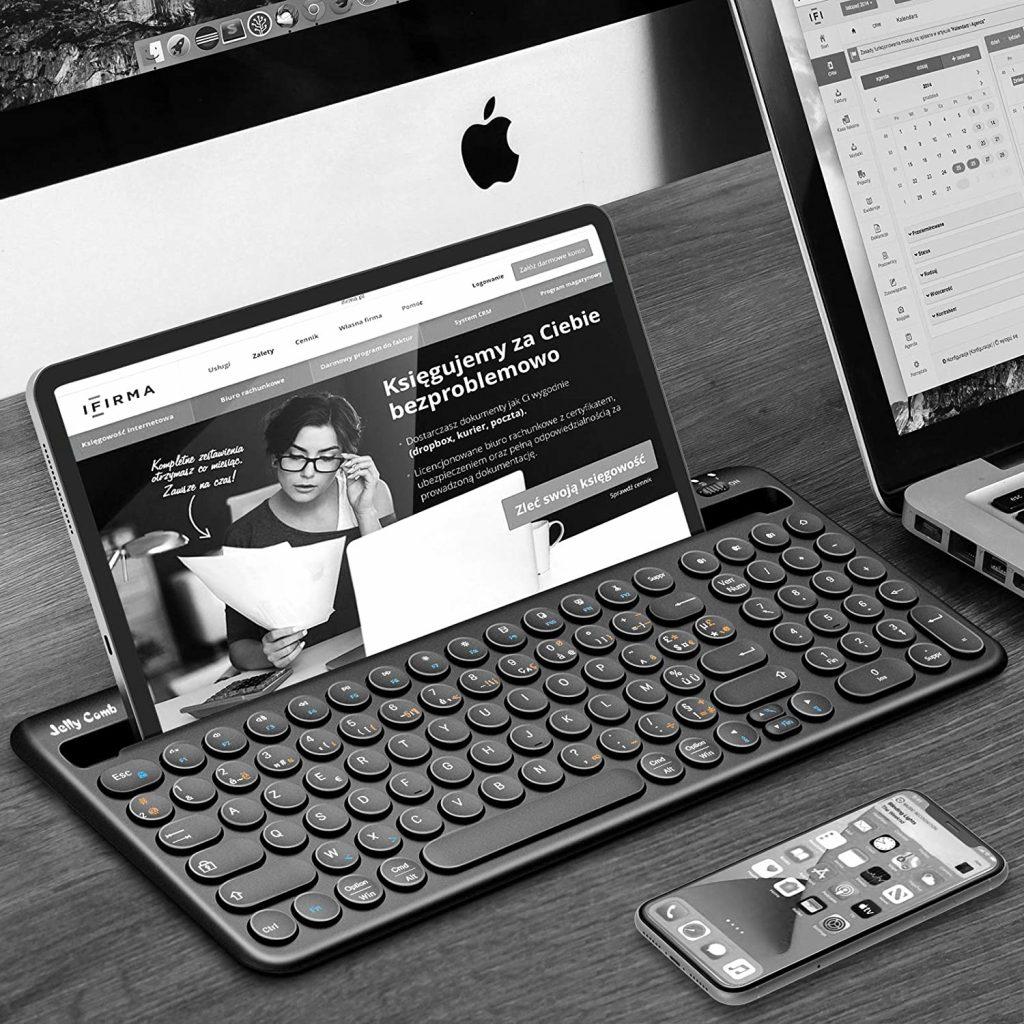 Jelly Comb Clavier sans Fil Azerty Multi-Appareil pour Tablette Samsung